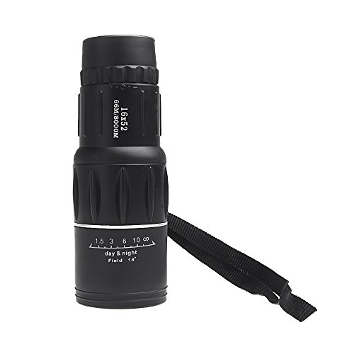 Anself Compact Zoom Sports Monocular Telescope Mono Spotting Scope For Traveling Hiking Camping Outdoor Activities Black