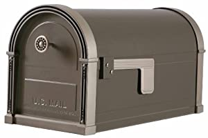 Gibraltar HM16NL01 Mailboxes High Grove Post Mount Mailbox in Light Bronze