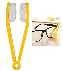 KARP Mini Microfiber Glasses Sun Glasses Eyeglasses Cleaner Cloth Cleaning Clip (Yellow)
