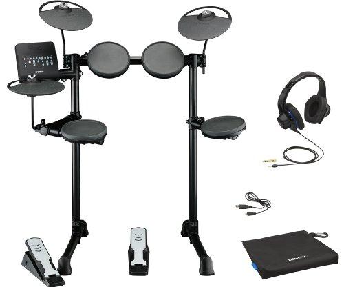 Yamaha Dtx400K Electronic Drum Kit Bundle With Denon Urban Raver High Performance On-Ear Headphones