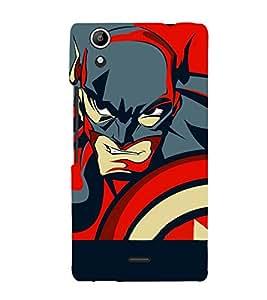 printtech Superhero Avengers Shield Back Case Cover for Micromax Canvas Selfie Lens Q345