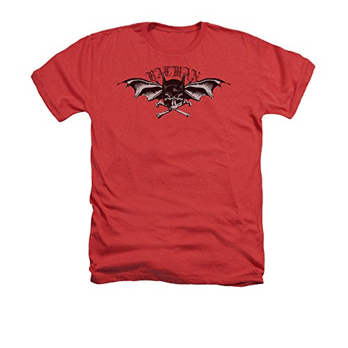Batman Comic Book Superhero Icon Gothic Bat Wings of Wrath Adult Heather T-Shirt