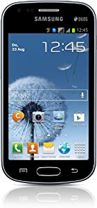 Samsung Galaxy S Duos S7562 Smartphone (10,2 cm (4 Zoll) Touchscreen, Cortex A5, 1GHz, 5 Megapixel Kamera, Android 4.0) schwarz