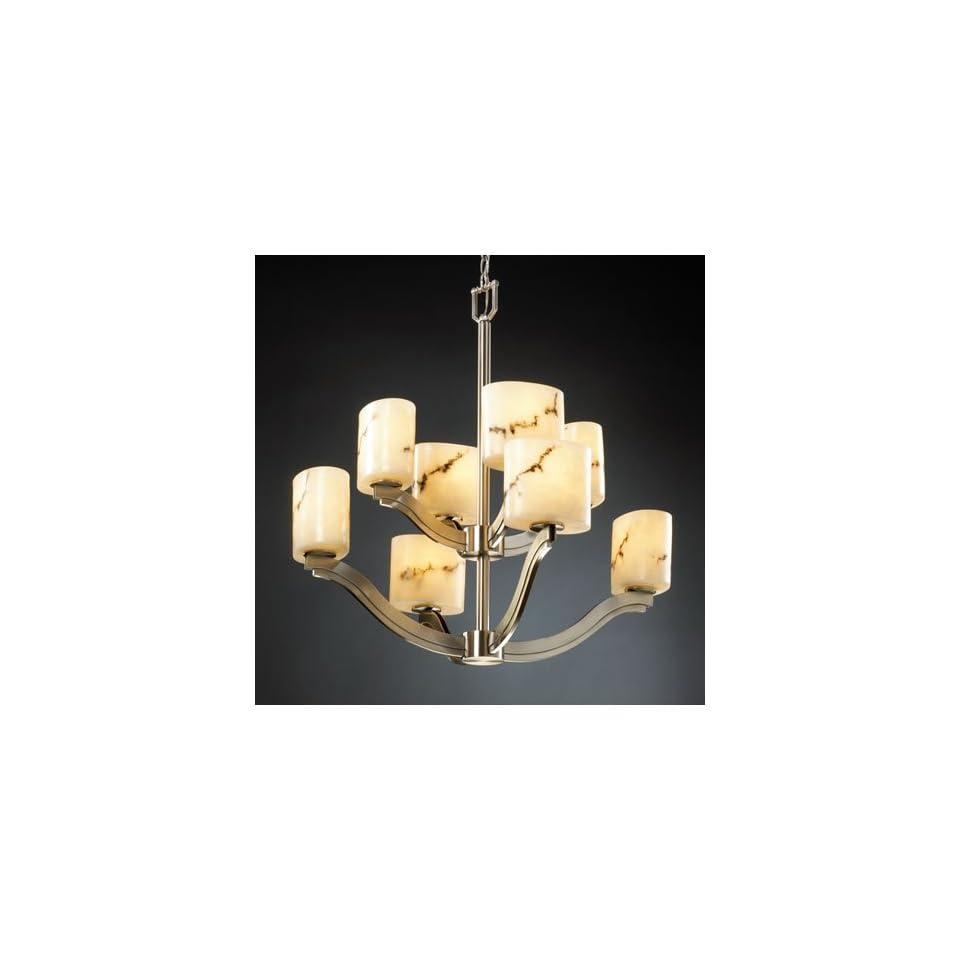 Justice Design Group FAL 8978 30 NCKL Lumenaria 8 Light Chandeliers in