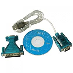Generic USB to RS232 Connecter Adapter + DB25 Male to DB9 Female Plug Adapter