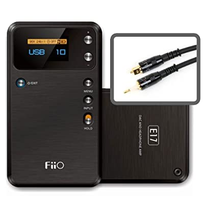 FiiO E17 (Alpen) Advanced Portable DAC and Headphone Amplifier with Micca M-Series Toslink-to-Mini Optical Cable