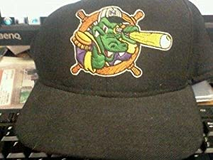 Vintage 1990s Mike Figga Game Used Norwich Navigators Hat Minor League Yankees - Game... by Sports Memorabilia