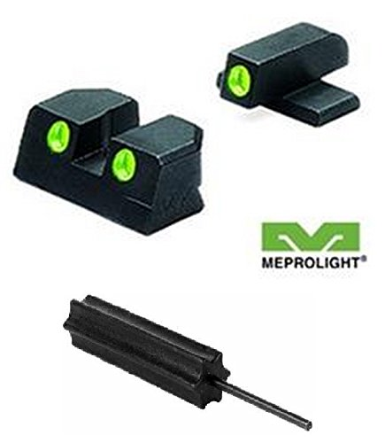 Meprolight The Mako Group Ml10110 Sig Sauer Tru-Dot® Night Sight Set Green/Green - 9Mm & 357 Sig + Ultimate Arms Gear Pro Disassembly 3/32 Pin Punch Armorers Gunsmith Tool