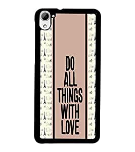 PrintDhaba Quote D-3833 Back Case Cover for HTC DESIRE 826 (Multi-Coloured)