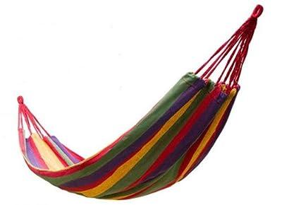 niceeshop(TM) Canvas Single Leisure Hammock Outdoor Sleeping Gear For Camping Hiking Backpacking TravelCanvas Single Hammock