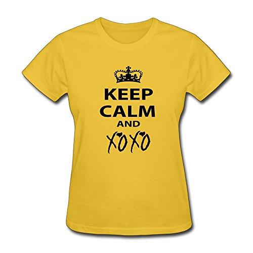 Zhitian Women'S Keep Calm Xoxo T-Shirt