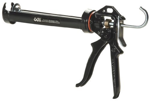 Cox 41004-XT Chilton Extra Thrust 10.3-Ounce Cartridge 18:1 Mechanical Advantage Cradle Manual Caulk Gun,  6-Pack