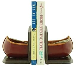 Canoe Bookend Set (Color Varies) 9-inch
