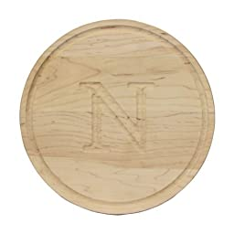 CHUBBCO 100-N Round Bar/Cheese Board, 10.5-Inch, Monogrammed \