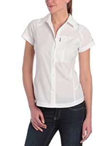 Columbia Silver Ridge Chemise manches courtes Femme Blanc FR : XS (Taille Fabricant : XS)