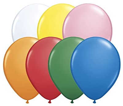"Qualatex 11"" Round Balloons, Solid Colors - Pack of 20"