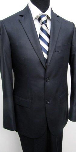 MUGA mens Suit elegant, Slim-line, 2-vents , Marine/Darkblue, size 42L (EU 98)