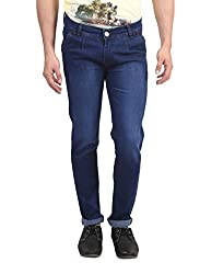 Manq Men's Blended Slim Fit Jeans (JSBK-102-30_30_Blue)