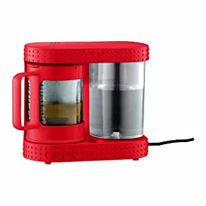 Bodum Bistro Electric Coffee and Tea Dripper, Red, 4-Cup