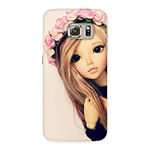Stylish Pink Rose Doll Back Case Cover for Samsung Galaxy S6 Edge Plus