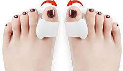 Very Soft & Effective Silicone Toe Separators One Pair for Hallux Pain Bunion Pain Toe Swelling