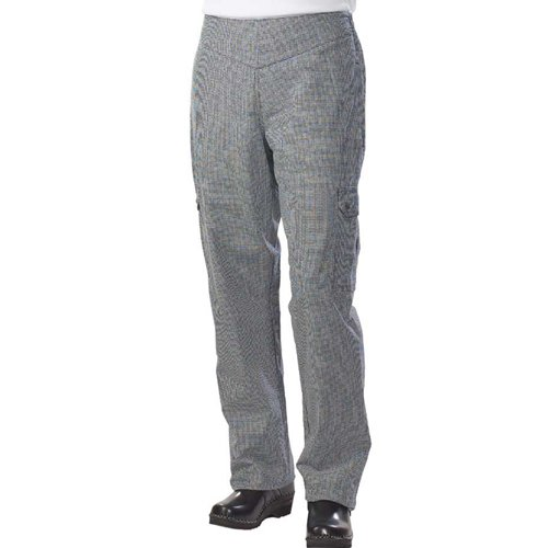 San Jamar LP001HT Cotton Hounds Tooth Pattern Ladies Cargo Pant with 2 Side and 2 Rear Pockets, 3X-Large (Chef Pants With Side Pocket compare prices)