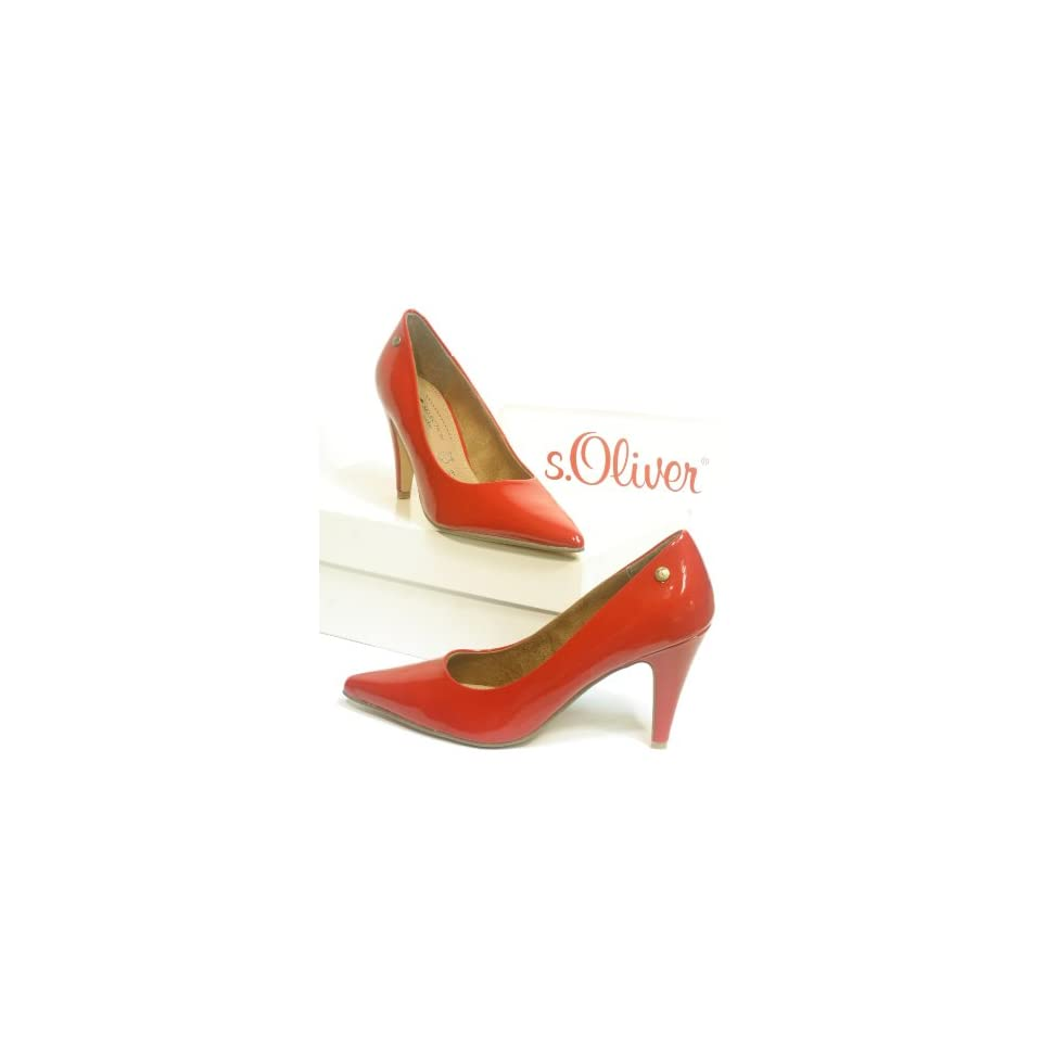 timeless design 9969a 6c038 4508 s.Oliver Damen Lack Pumps rot chili Schuhe on PopScreen