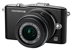 Olympus E-PM1 Compact System Camera - Black (includes M.ZUIKO Digital 14 -42mm II R Lens) (discontinued by manufacturer)