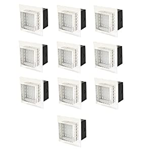 10 Pack of Halolite 12V DC IP54 Bathroom Fixed Crystal Glass White LED Wall / Ceiling Light. from Halolite