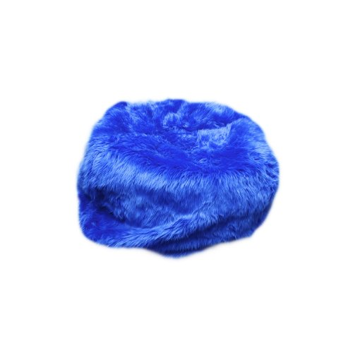 Fun Furnishings Beanbag, Large, Royal Blue Fuzzy Fur back-915094