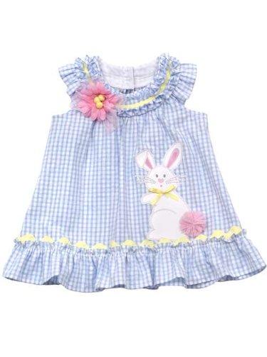 Cheap Rare Editions Baby Girls Easter Bunny Seersucker Dress ... b243f381d