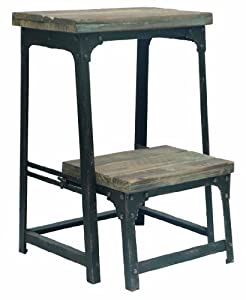 Amazon Com Crestview Collection Industrial Step Stool