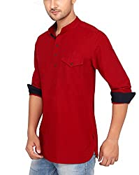 Ecohawk Red Casual Slim Fit Shirt 7041-C