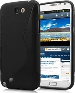 S-Hardline Combo Pack Back Cover For Samsung Galaxy Note II N7100+ USB ultra bright led light (Black)
