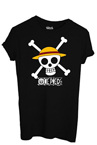 T-Shirt ONE PIECE SKULL - CARTOON by iMage Dress Your Style - Uomo-S-NERA