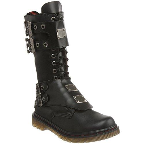 DEMONIA DISORDER-302 Men Gothic Punk Military 14 Eyelet Mid Calf Combat Boot