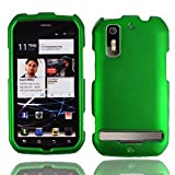 For Sprint Motorola Photon 4g Mb855 Accessory - Rubber Green Hard Case Proctor Cover+ Lf Stylus Pen
