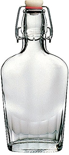30 Piece Master Case - 8 Ounce (250ml) Glass Pocket Flask Bottle From Italy with Swing Top