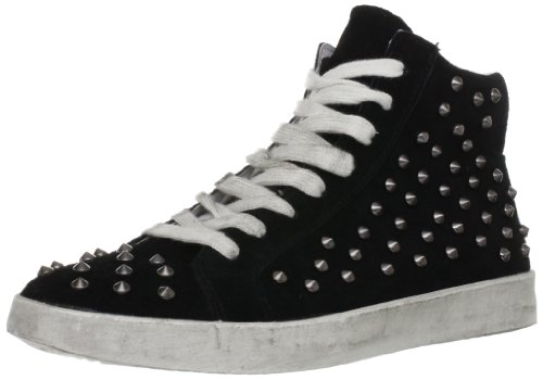 Steve Madden Women's Twynkle Fashion Sneaker,Black Suede,6.5 M US