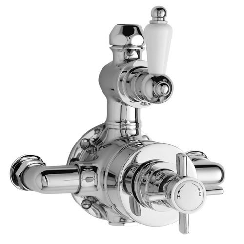 Ultra Beaumont Twin Exposed Traditional Thermostatic Bathroom Shower Mixer Valve