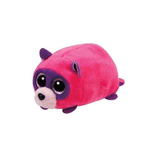 Ty Rugger Raccoon - Teeny 4 inch - Stuffed Animal (42139) (Color: Pink, Purple, Tamaño: 1.5 x 1.5 x 3)