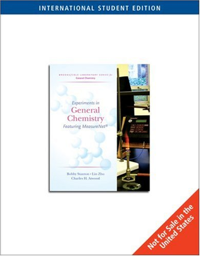 Experiments in General Chemistry (Featuring MeasureNet) (Brooks/Cole Laboratory Series for General Chemistry)