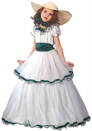 Costumes For All Occasions Fw5934Lg Southern Belle Child Large