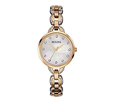 Bulova Women's Rose Goldtone Facets Watch with Mother-of-Pearl Dial