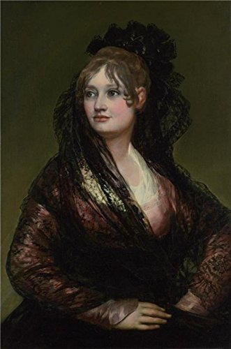 Oil Painting 'Francisco De Goya-Doa Isabel De Porcel,before 1805', 8 x 12 inch / 20 x 31 cm , on High Definition HD canvas prints is for Gifts And Foyer, Gym And Study Room Decoration (Gas Station Lightning compare prices)
