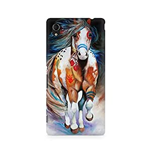 Mobicture Horse Graphics Premium Designer Mobile Back Case Cover For Sony Xperia M4