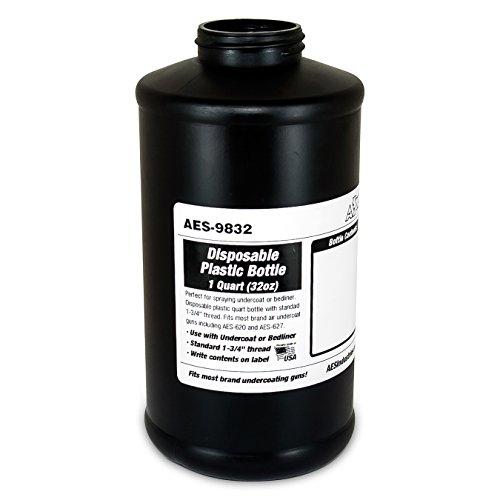 AES Industries 9832 Undercoating / Bedliner / Rustproofing Disposable Empty Plastic Schutz Bottle (1 Quart) (Gun Undercoating compare prices)