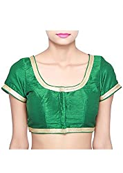 Green Silk Golden Zari Lace Blouse Material