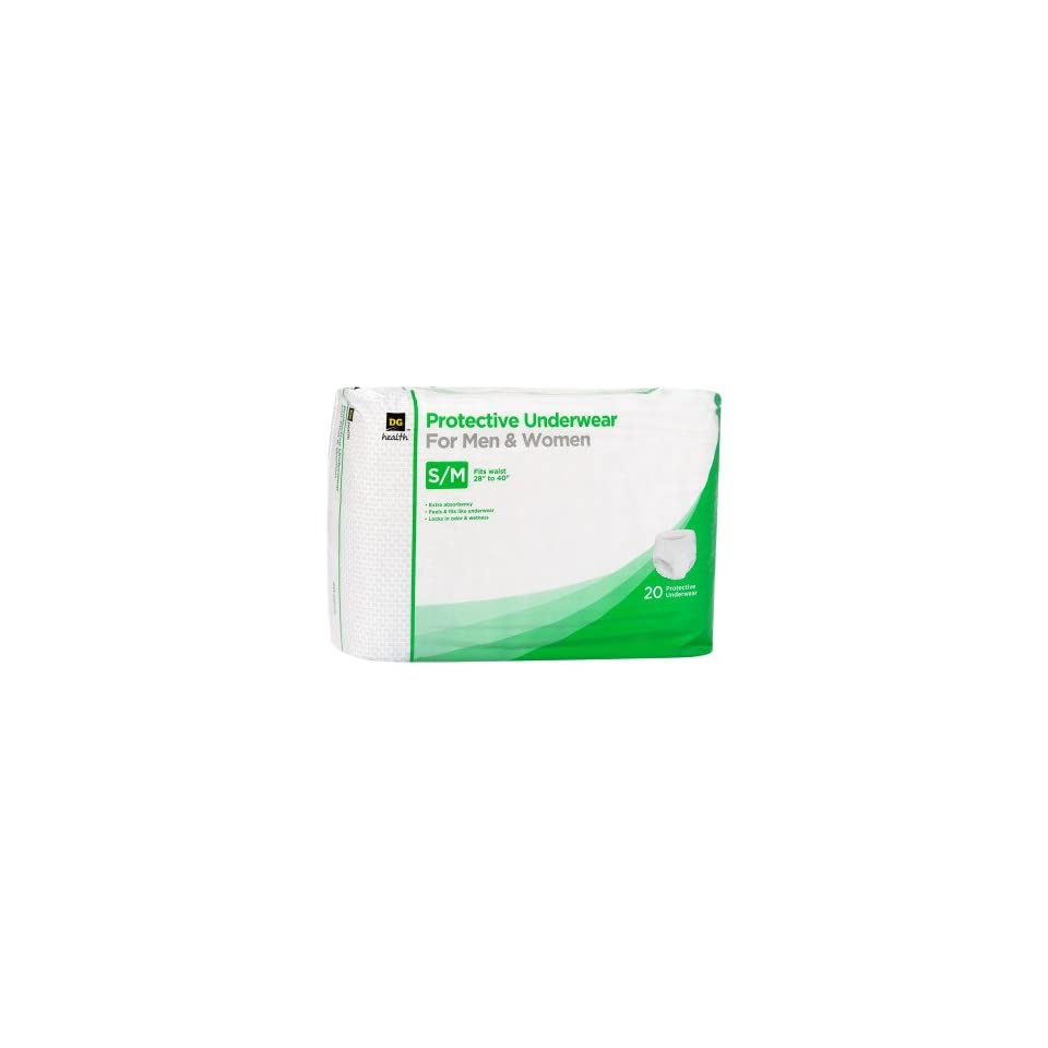 8b68dc310 DG Health Protective Underwear for Men   Women S M 20 ct on PopScreen