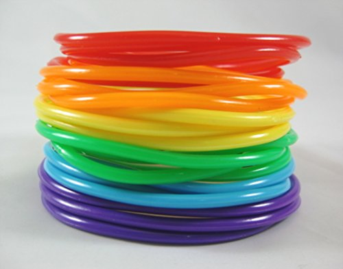 New 20 Piece Rainbow Jelly Bracelet Set Gay Pride #B1112a (Rainbow Jelly compare prices)